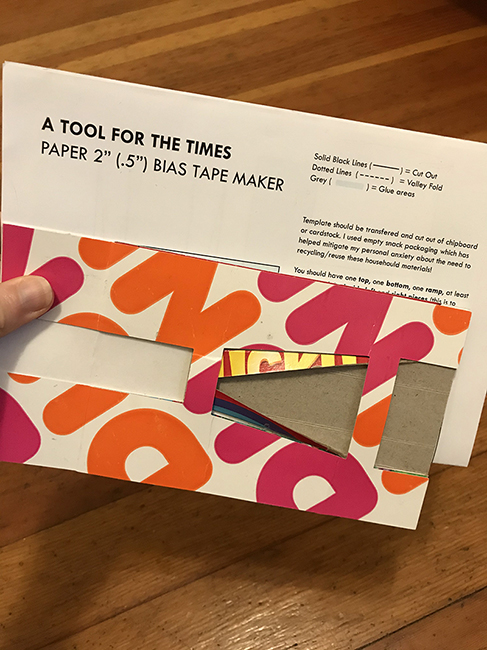 Bias tape maker by Imin Yeh.