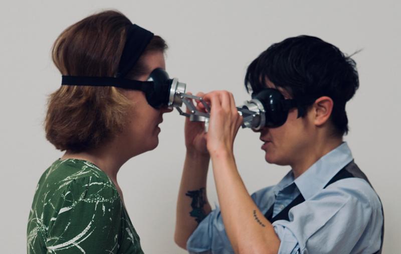 Lygia Clark, Diálogo: Óculos (Dialogue: Goggles), 1968; installation view, The Art of Participation: 1950 to Now, SFMOMA 2008; Clark Family Collection, Rio de Janeiro, Brazil; photo: Ian Reeves.