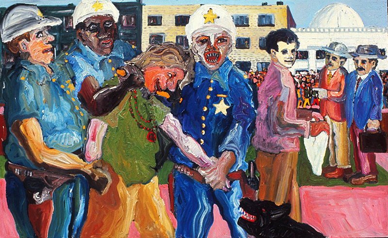 Mike Henderson, Peace Demonstration, 1965; oil on canvas. Courtesy of the artist.
