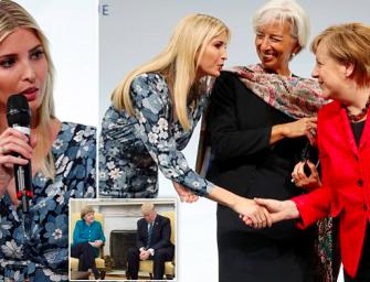 Ivanka代爸做形象~握手德國總理卻挨轟做面子!