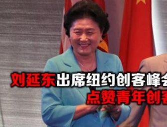 刘延东出席纽约创客峰会 点赞青年创客