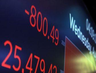 对经济衰退的担忧导致美股暴跌