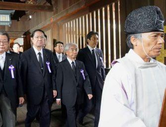 """日本首相安倍向靖国神社供奉""""玉串料"""""""