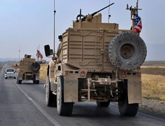 一批美军从叙利亚进入伊拉克
