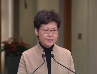 林郑月娥回应理大事件:暴徒必须放弃武器