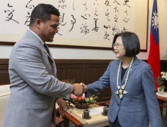 太平洋岛国图瓦卢外长访台 蔡英文期盼双边继续携手合作