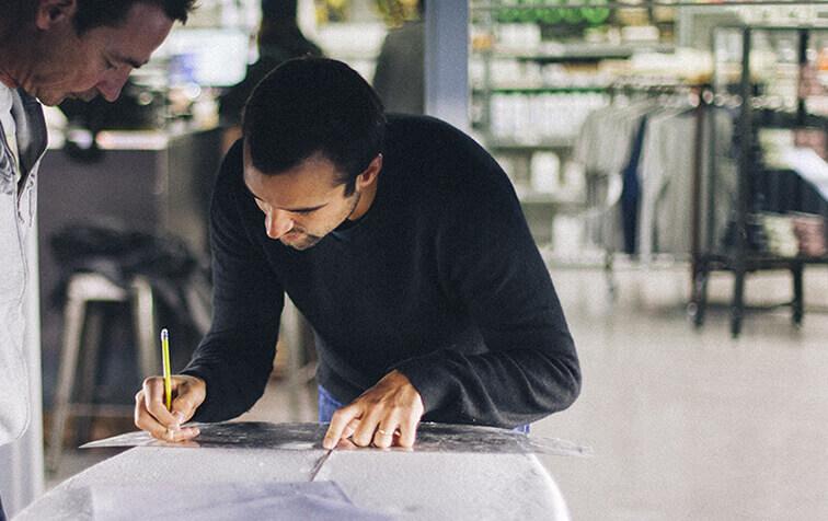 Franck Perez, professeur de shape SHAPER HOUSE Biarritz