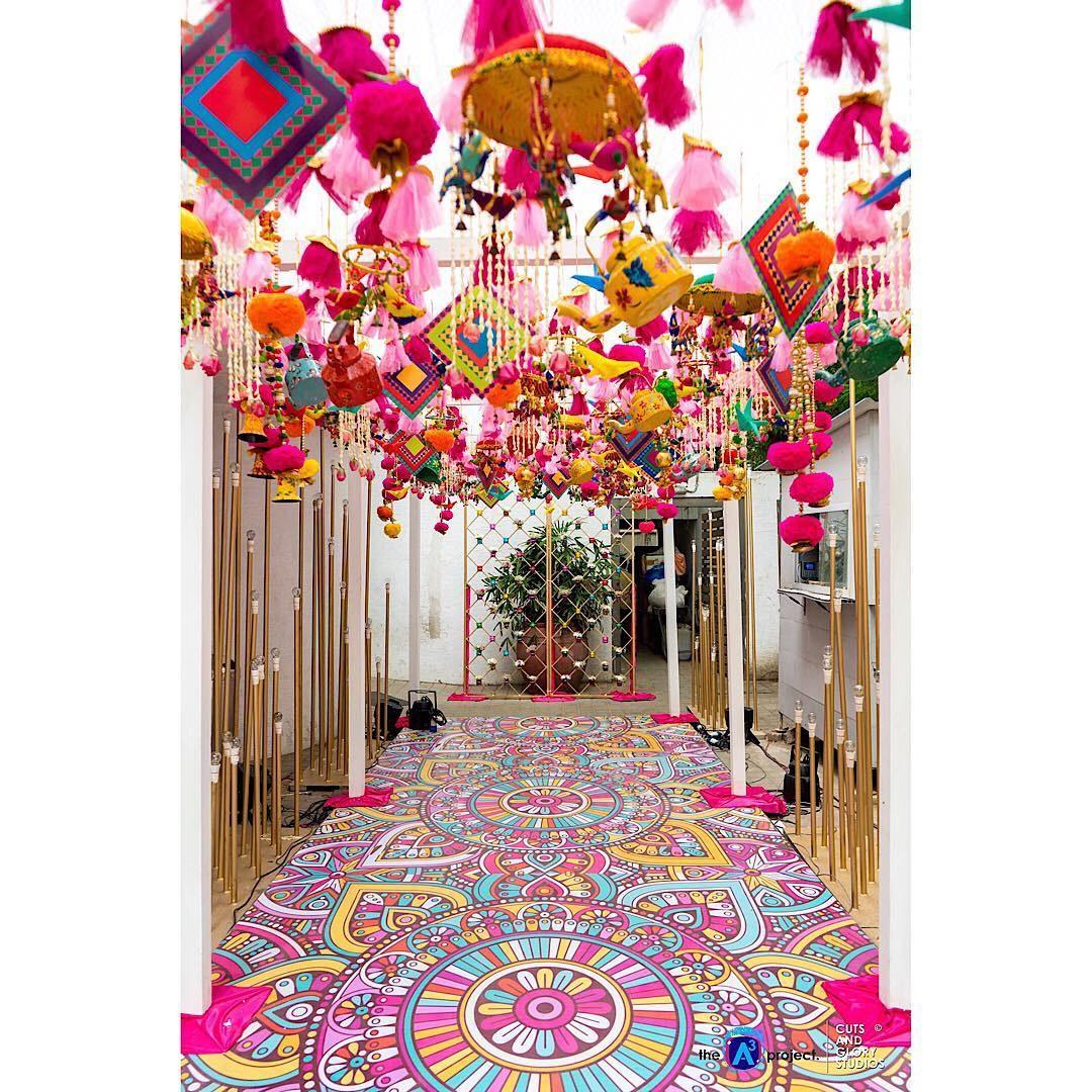 Colorful Haldi Decor Ideas