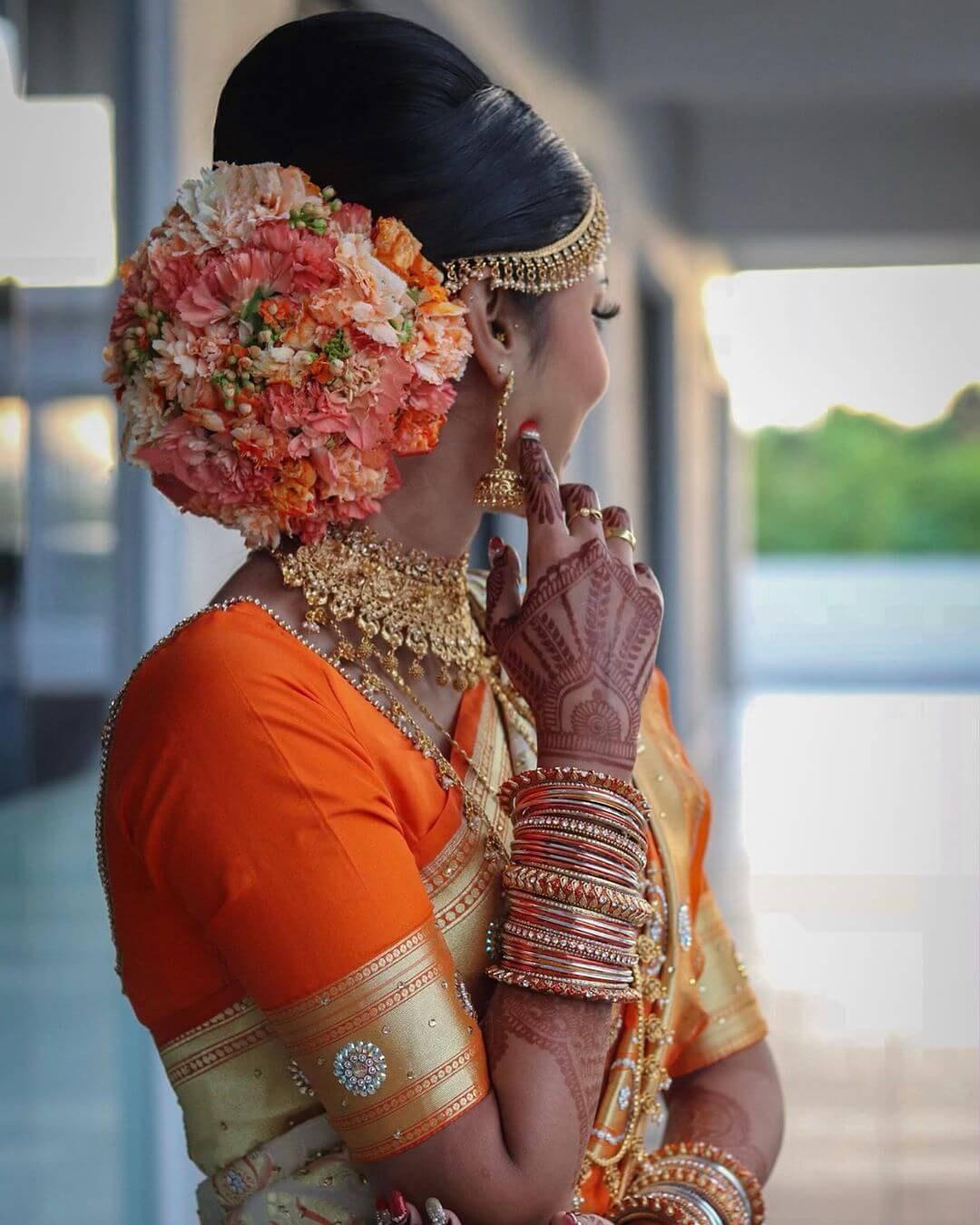 Indian Bridal Bun: Stunning South Indian Bridal Bun