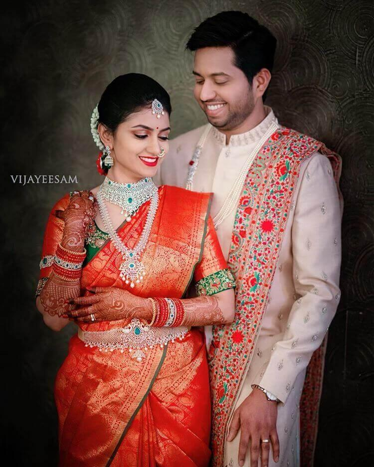 South Indian Bride With Diamond Jewellery Shaadiwish