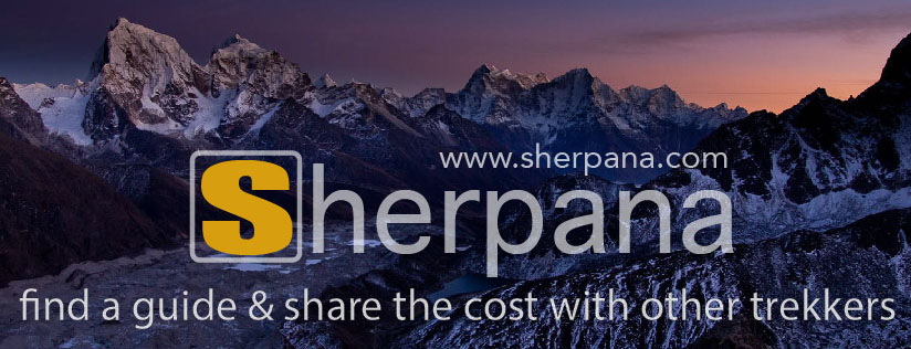 Sherpana find a trekking guide and share the cost in Nepal