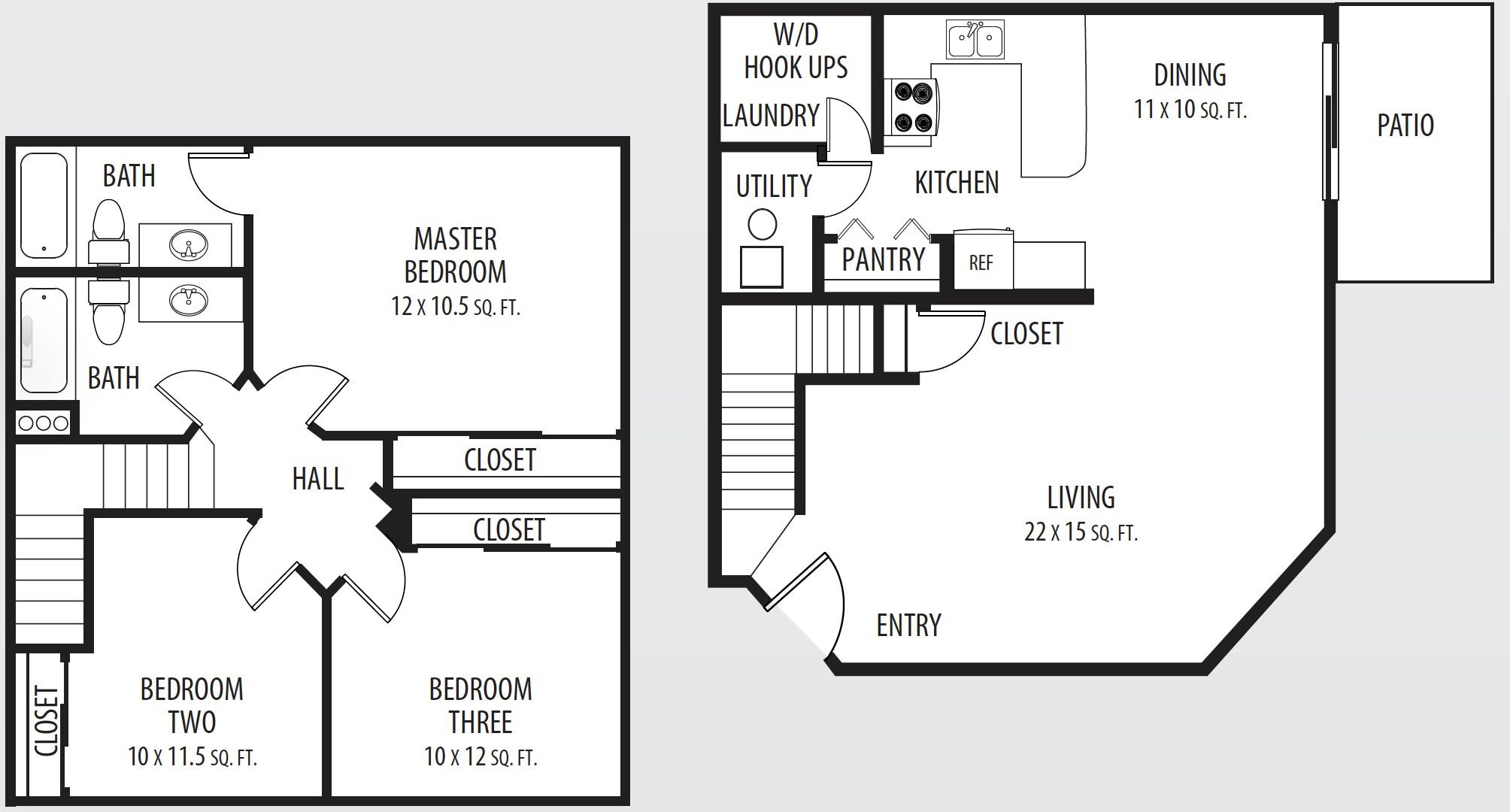 Stonebridge apartments west jordan utah floor plan for Utah floor plans