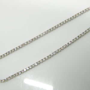 """14 Karat White Gold Mounted 16.5"""" 4-Prong Set Necklace with 153 Round Cut Diamonds weighing 10.12cts."""