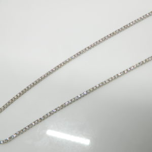 """14 Karat White Gold Mounted 24"""" 4-Prong Set Necklace with 252 Round Cut Diamonds weighing 11.62cts."""