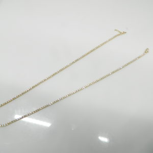 """14 Karat Yellow Gold Mounted 16.5"""" 4-Prong Set Riveria Necklace with 191 Round Cut Diamonds weighing 4.76cts."""