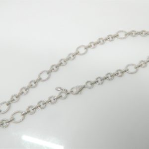 "18 Karat White Gold Mounted 16"" Necklace with 3107 Round Cut Diamonds weighing 13.21cts"