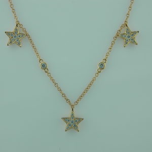 18 Karat Rose Gold Mounted Necklace with 61 Round Diamonds weighing 0.80cts.