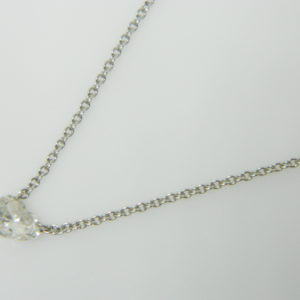 18 Karat White Gold Mounted Necklace with 1 Heart Shaped Diamond weighing 0.46cts.