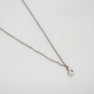 18 Karat White Gold Mounted Necklace with 1 Aero Pierced Diamond weighing 0.25ct
