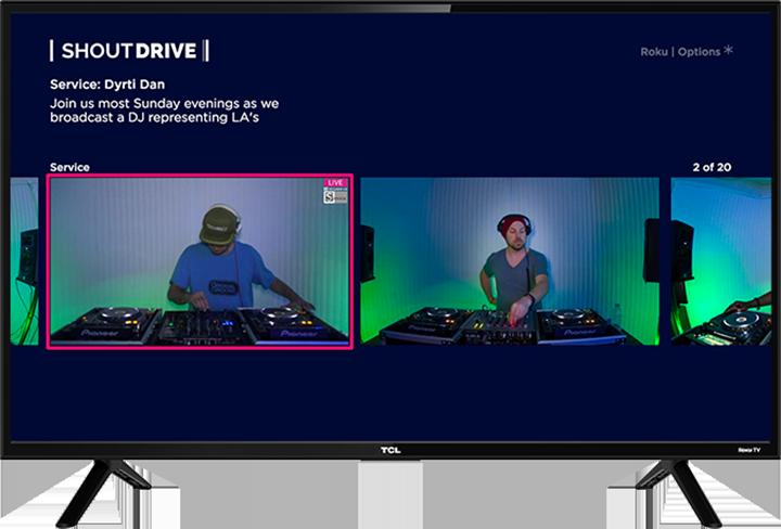 Mobile & Smart TV Apps | ShoutDRIVE: Dance Music & EDM Audio