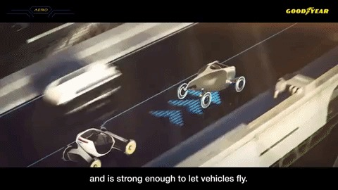 Goodyear's New Aero Tire Is Built With Flying Cars In Mind