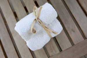towels ready for a ladies spa party