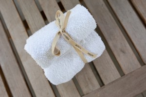 warm towels ready for a corporate spa party