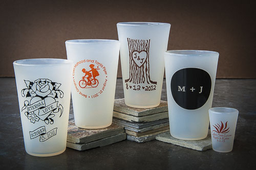 pint glass wedding favors silipint