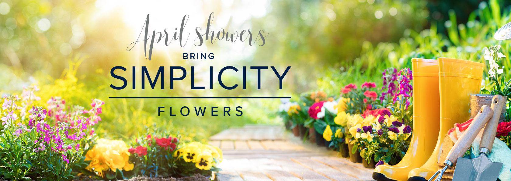 Sim Spring Flower Website Banner Home Builders In Oregon