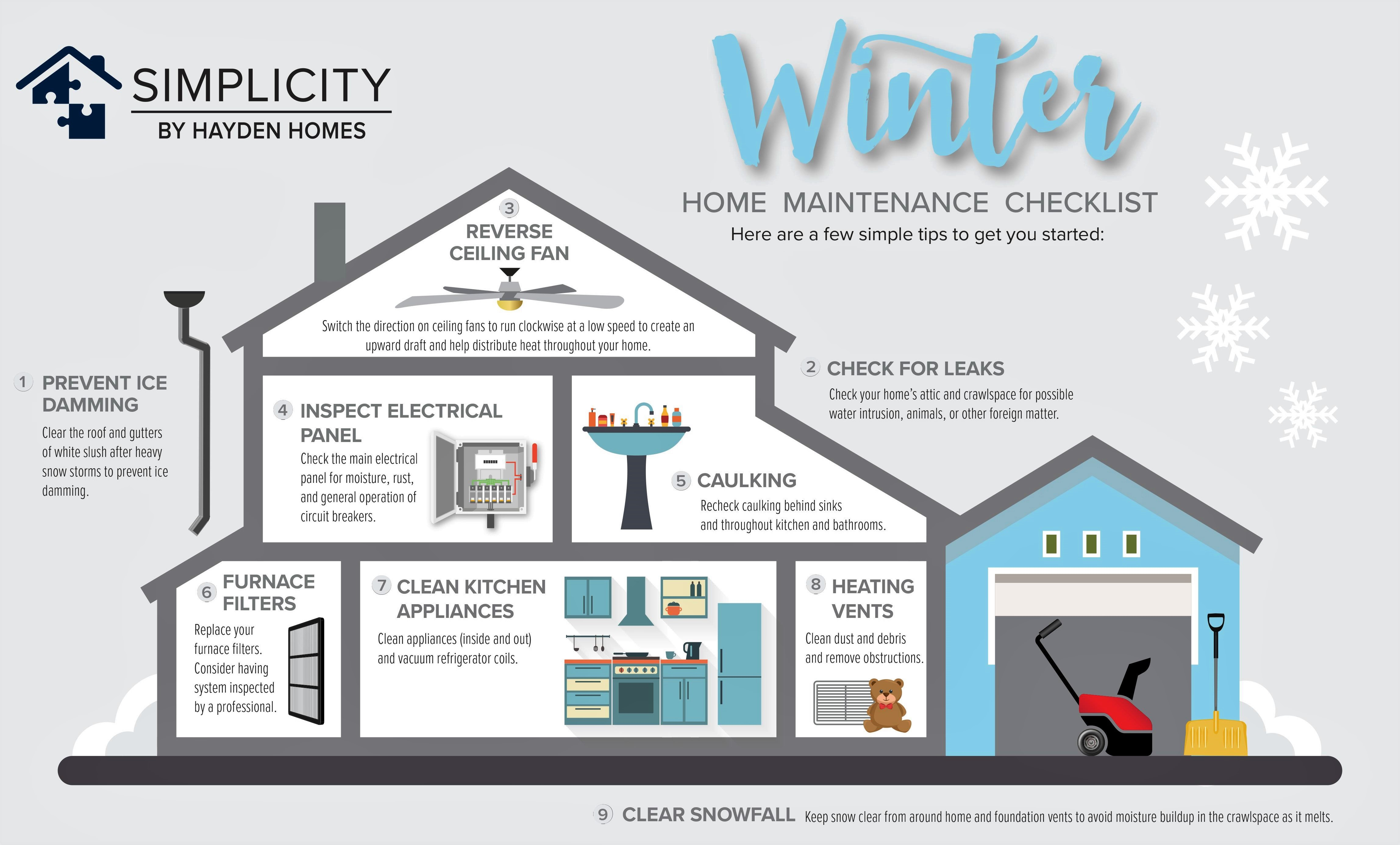 Your Home Maintenance Checklist for Winter