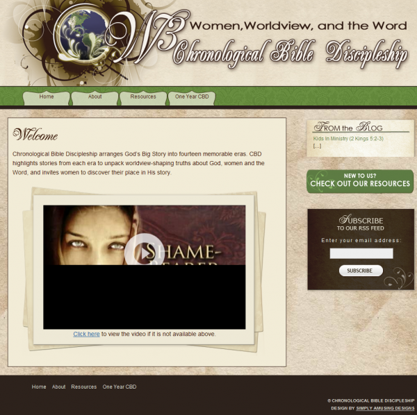 Chronological Bible Discipleship Website