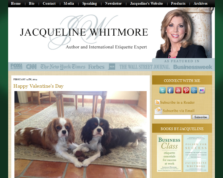 Jacqueline Whitmore Blog Design by Simply Amusing Designs
