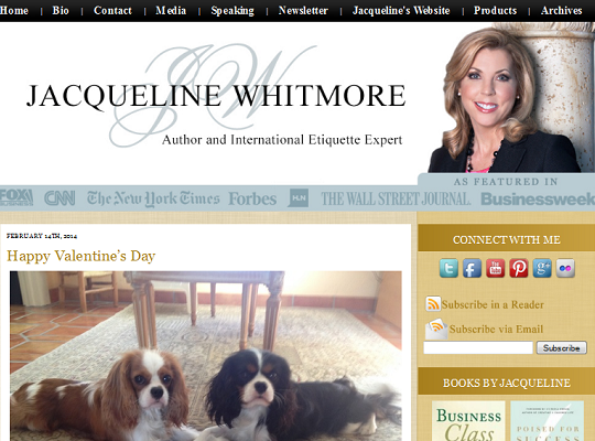 Jacqueline Whitmore Blog Design
