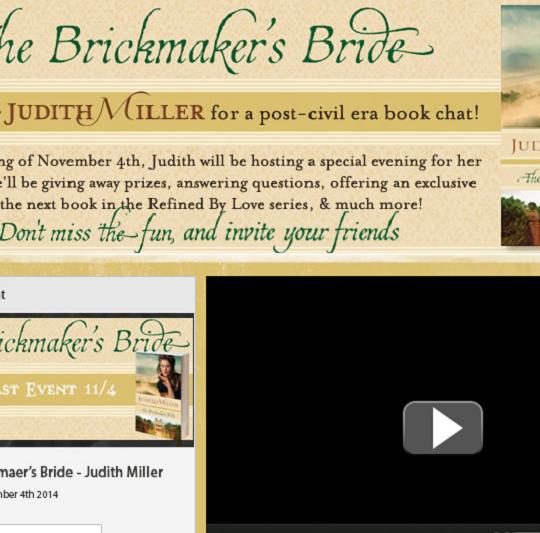 Judith Miller Live Webcast Facebook App