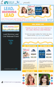 Lead Momma Lead Live Webcast Event by Simply Amusing Designs
