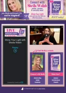 Sheila Walsh Live Webcast by Simply Amusing Designs
