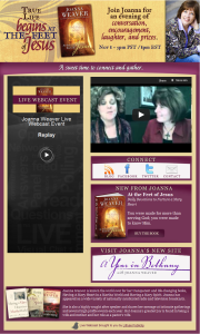 Joanna Weaver Live Webcast by Simply Amusing Designs