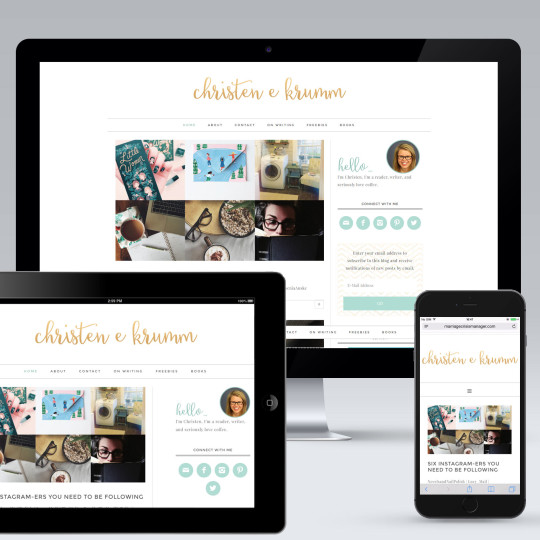 Christen Krumm WordPress Blog Design