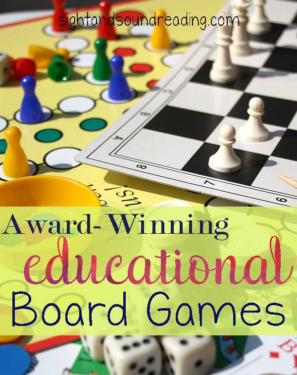Best Educational Board Games: Award winning board games that help children learn.