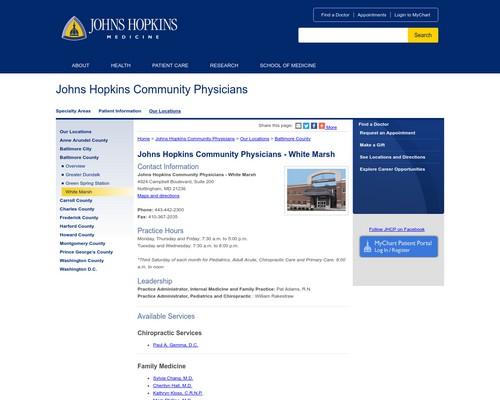 Johns Hopkins Dermatology Green Spring Station