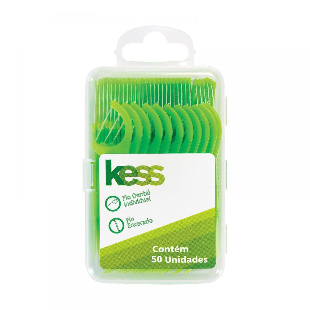 322188e48 Fio Dental Kess Individual Pote Com 50 Unidades