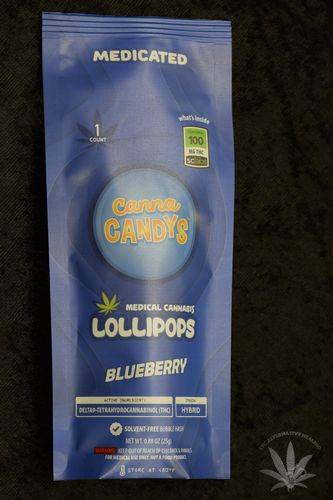 CannaCandys Lollipop - Blueberry