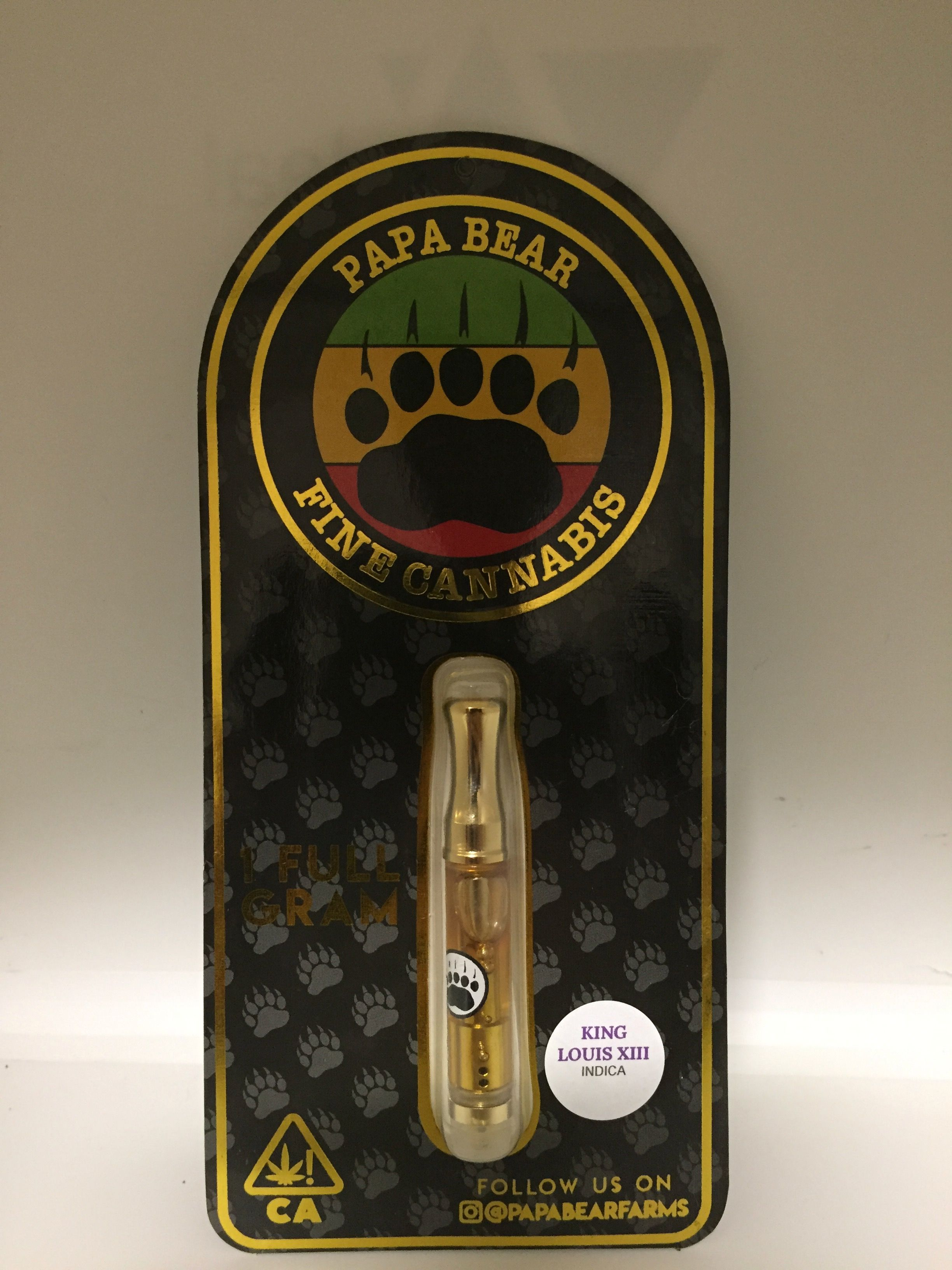Papa Bear Fine Cannabis - King Louie XIII Cartridge