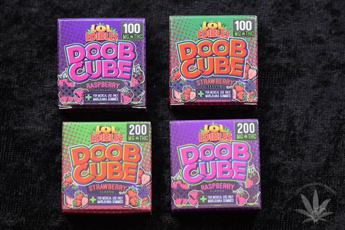 LOL Edibles Raspberry Doob Cube, 200mg