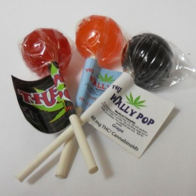 Wally Pops 60MG. THC Grape, Watermelon or Blueberry