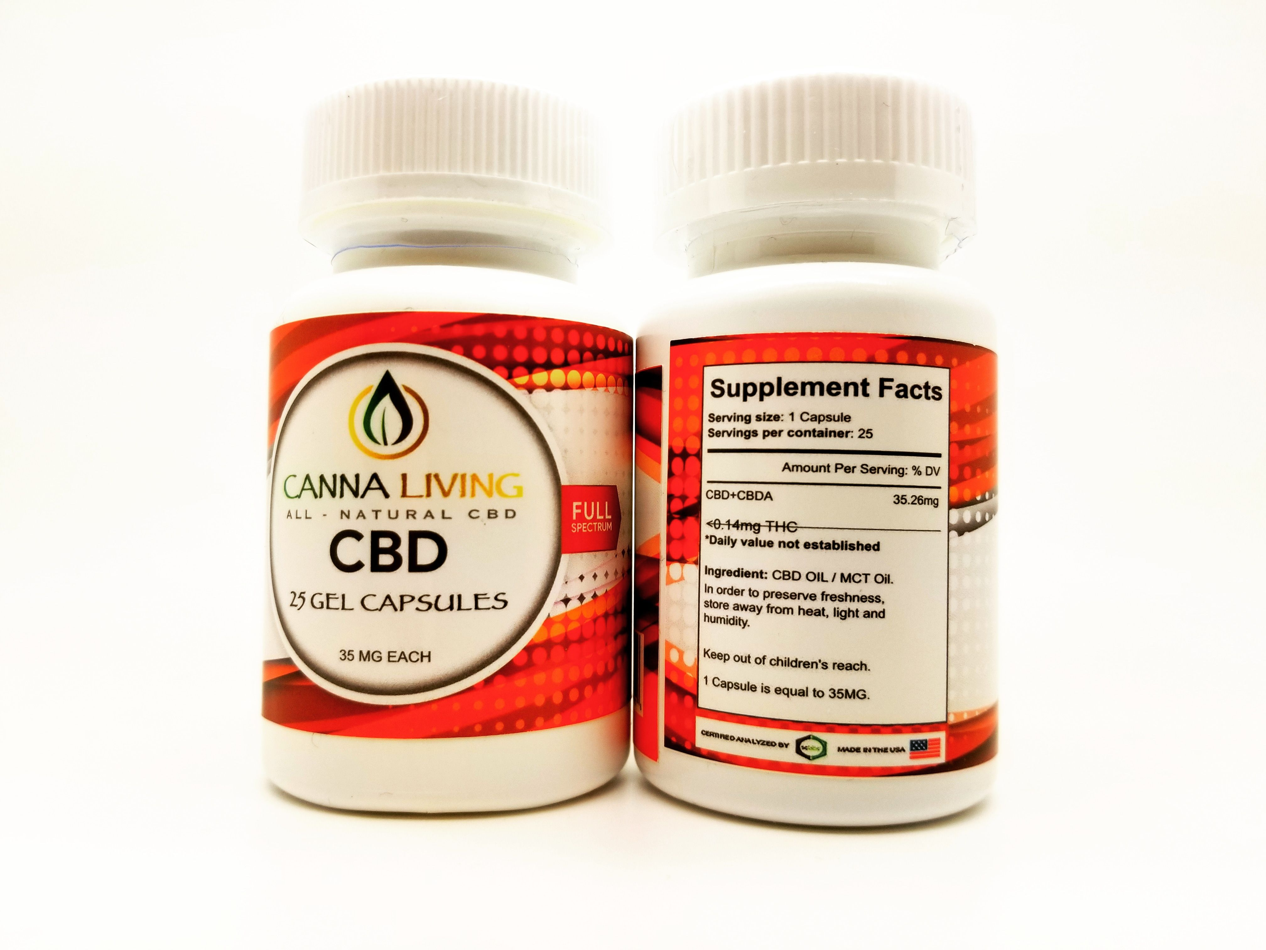 Canna Living CBD RSO with MCT Gel Capsule