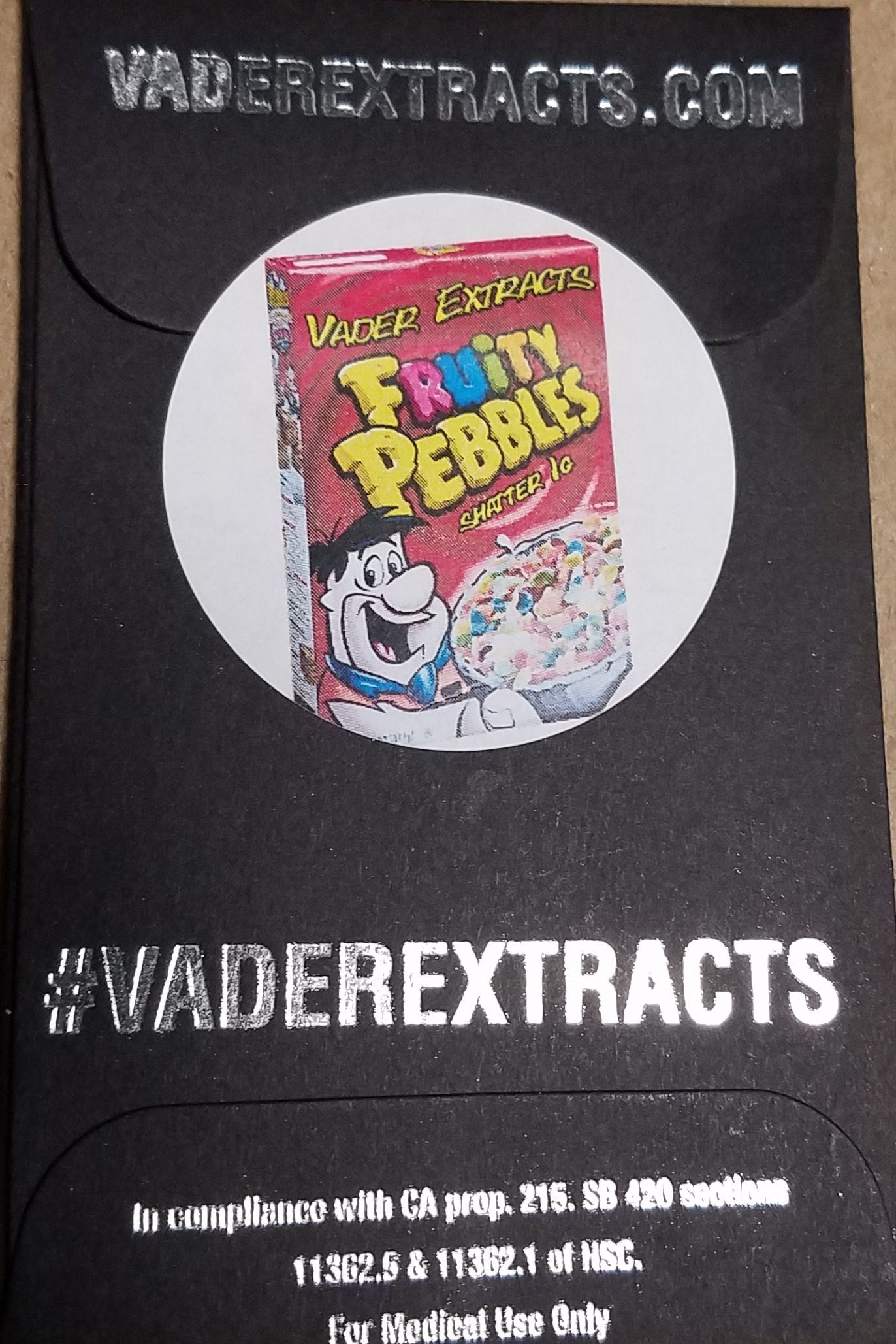 Vader Extracts- Fruitty Pebbles Shatter 1g