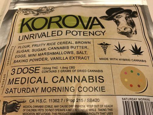 Korova-Saturday Morning Cookie 3 Dose 150mg