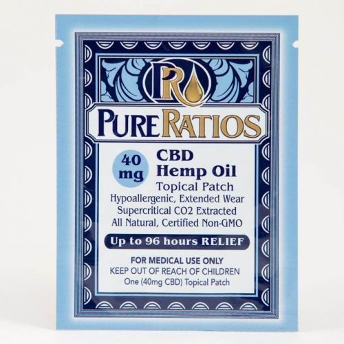 Pure Ratios CBD Hemp Oil Patch