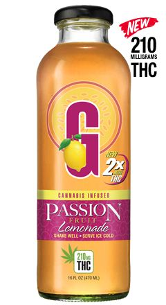 G Drinks Lemonade - Passion Fruit (210mg)